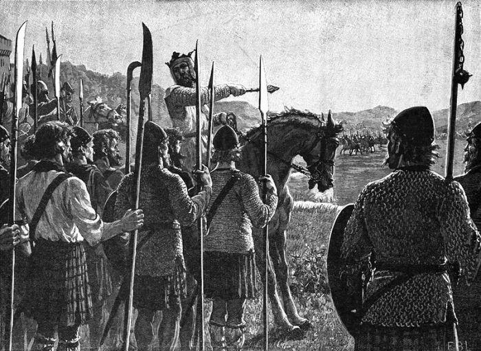 800px-Battle_of_Bannockburn_-_Bruce_addresses_troops