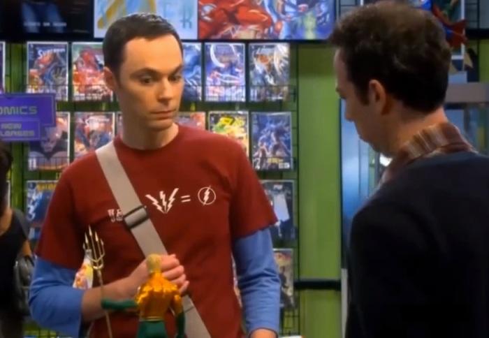 """Cena do seriado humorístico """"The Big Bang Theory"""", com o físico teórico """"nerd"""" Sheldon Cooper, representado pelo ator Jim Parsons. Imagem: Reprodução"""
